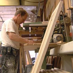 Mike Stock, a cabinet maker, has spent the last 13 years building a boat in his backyard. The 35-foot boat is complete with three floors and can sleep up to 12 people. Stock said he's built everything starting with the frame. He hopes to finish it in November and eventually live on it with his wife.