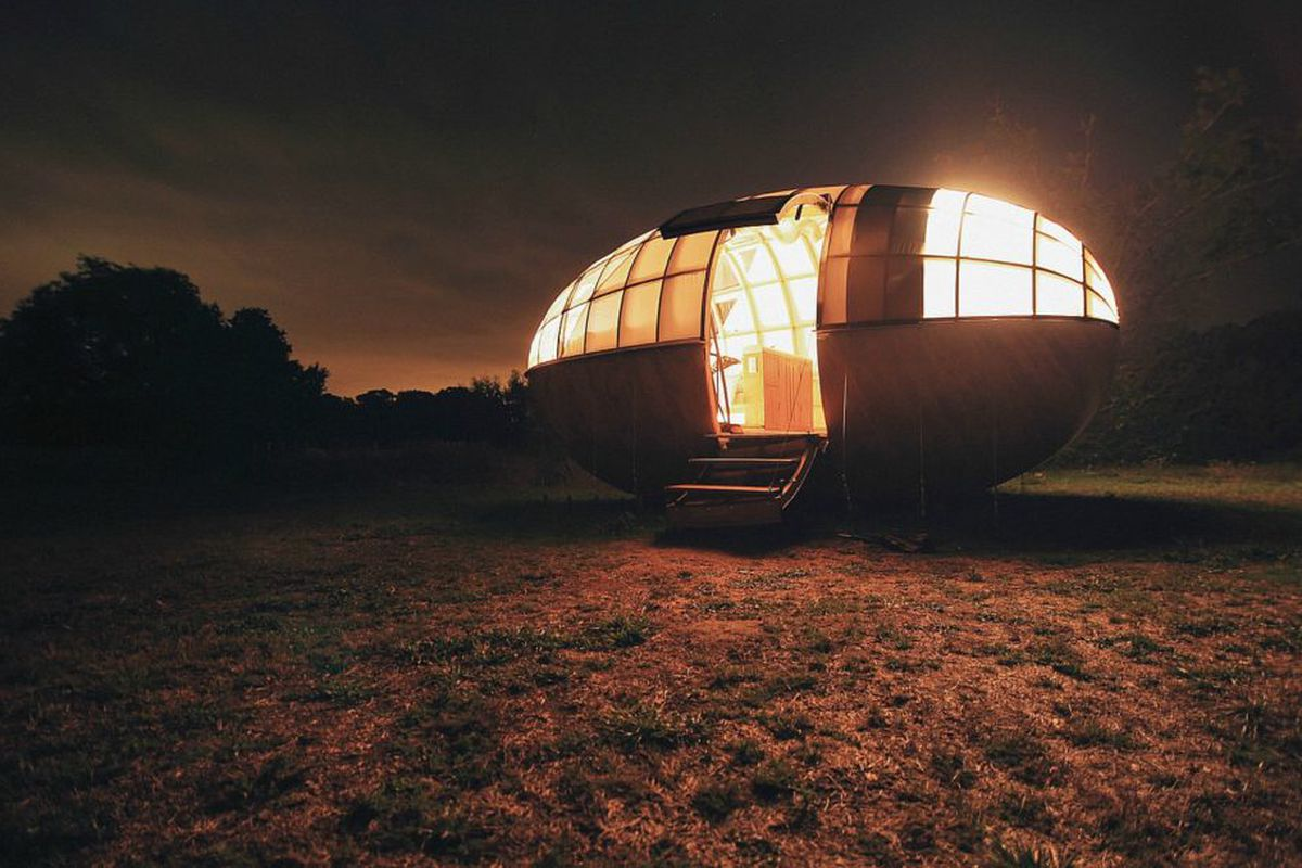 egg-shaped retreat in France.