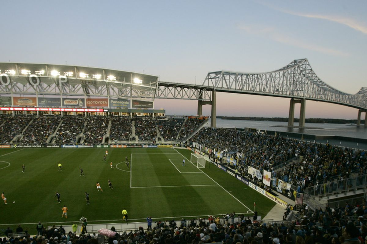 Picturesque PPL Park outside Philadelphia. Among the choices in the coming World Cup qualifier sweepstakes.