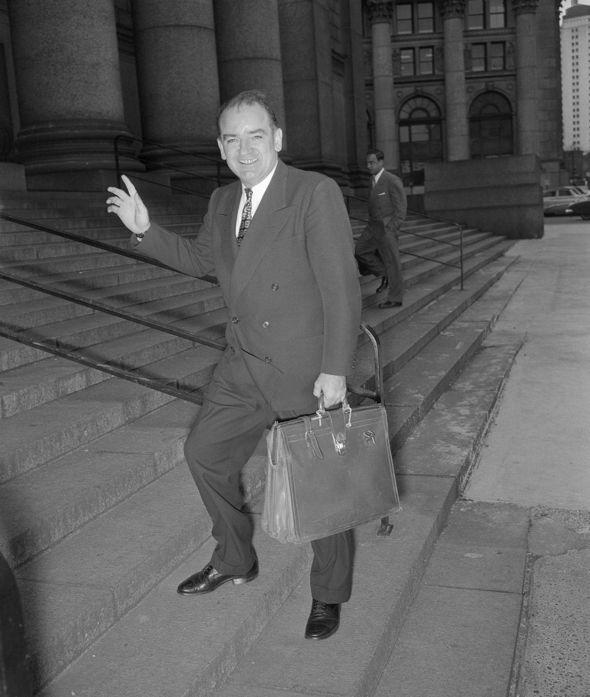 Joe McCarthy Walking up Steps