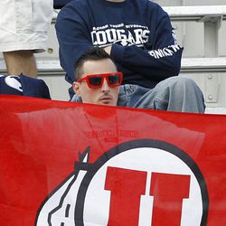 Fans wait before before the University of Utah and Brigham Young University play football Saturday, Sept. 17, 2011, in Provo, Utah.