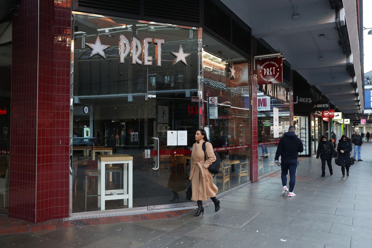 A Pret a Manger, reopening 10 stores during coronavirus outbreak