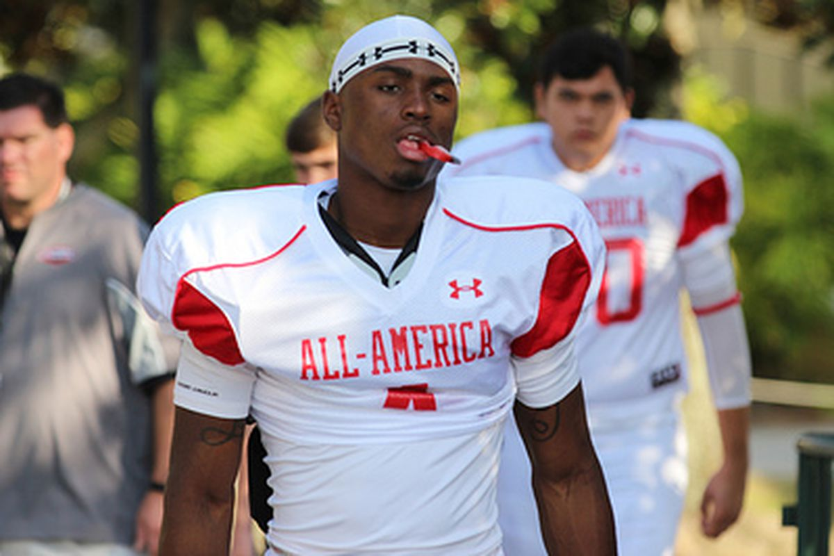 Laquon Treadwell at the Under Armour All-American Practices