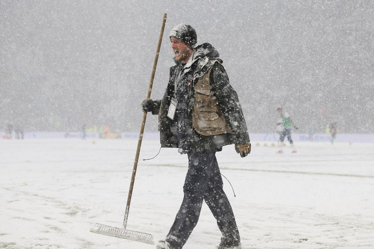 A match postponed due to bad weather
