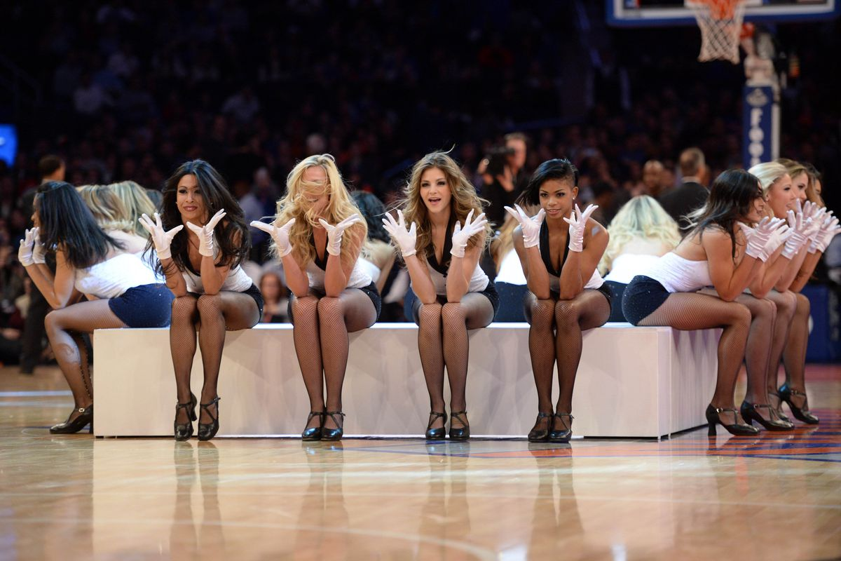 Knicks dance team, just watching the game with some buds.