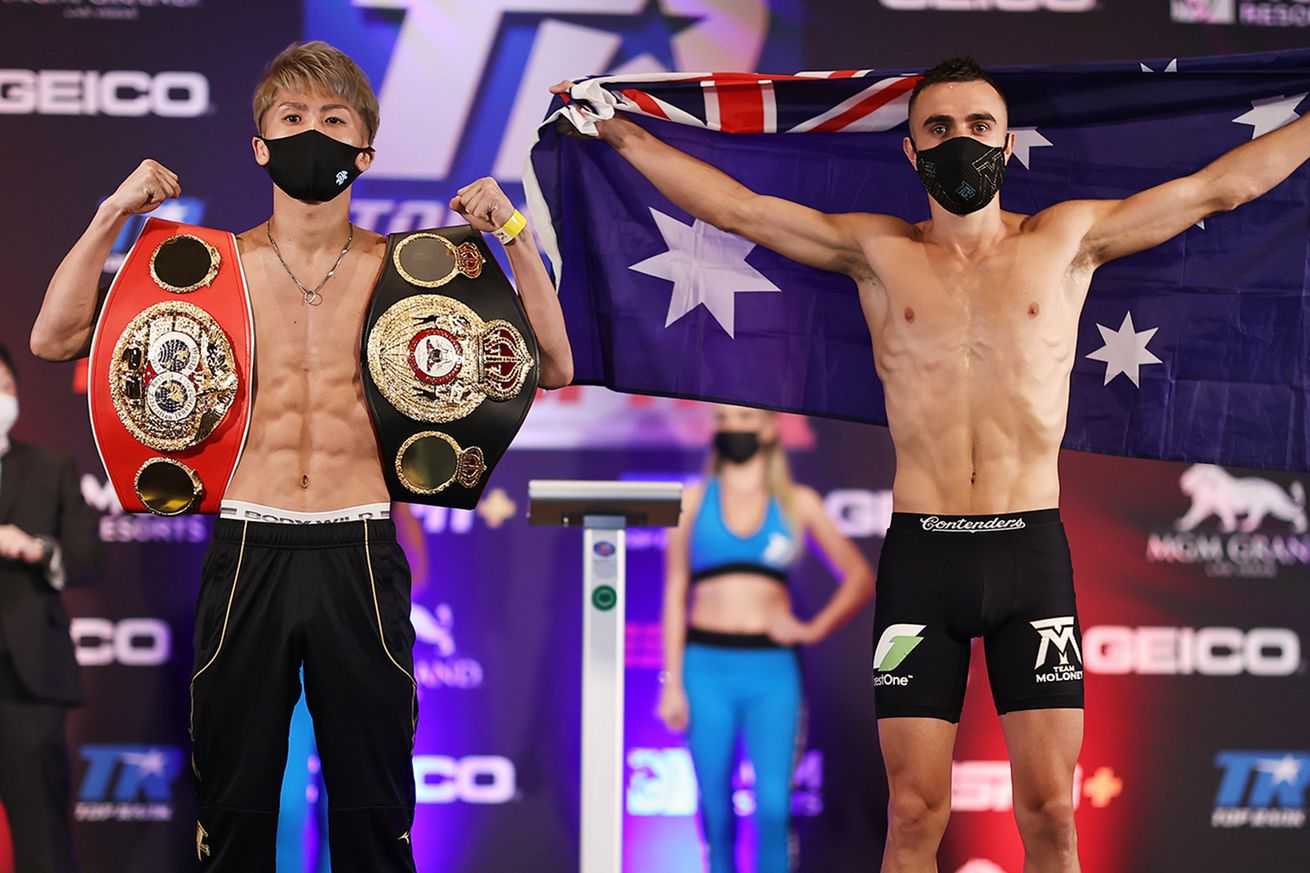 ElnBXoeU4AUZwcL.0 - Inoue-Moloney set, Brodnicka loses title on scale