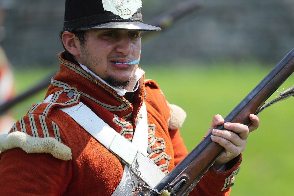 The Guards of Fort York, Fort George and Old Fort Erie give a music and battle tactics demonstration on Simcoe Day. Fort York honours Upper Canada's first lieutenant governor and founder of the fort and the Town of York John Graves Simcoe.