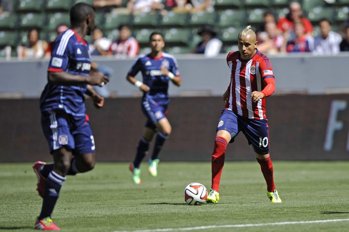 Bofo in action for Chivas USA in 2014.