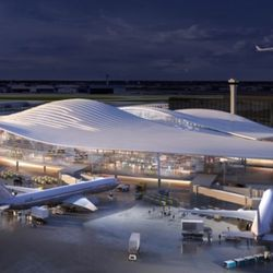 Terminal proposal from Fentress-EXP-Brook-Garza | Courtesy of the City of Chicago