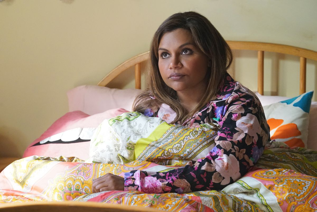Mindy Kaling as Mindy Lahiri in season 5 of The Mindy Project.