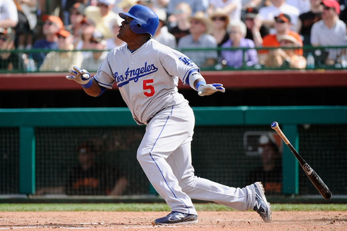 The Dodgers are betting on Juan Uribe to provide pop from the fifth or sixth spot in their lineup this season.