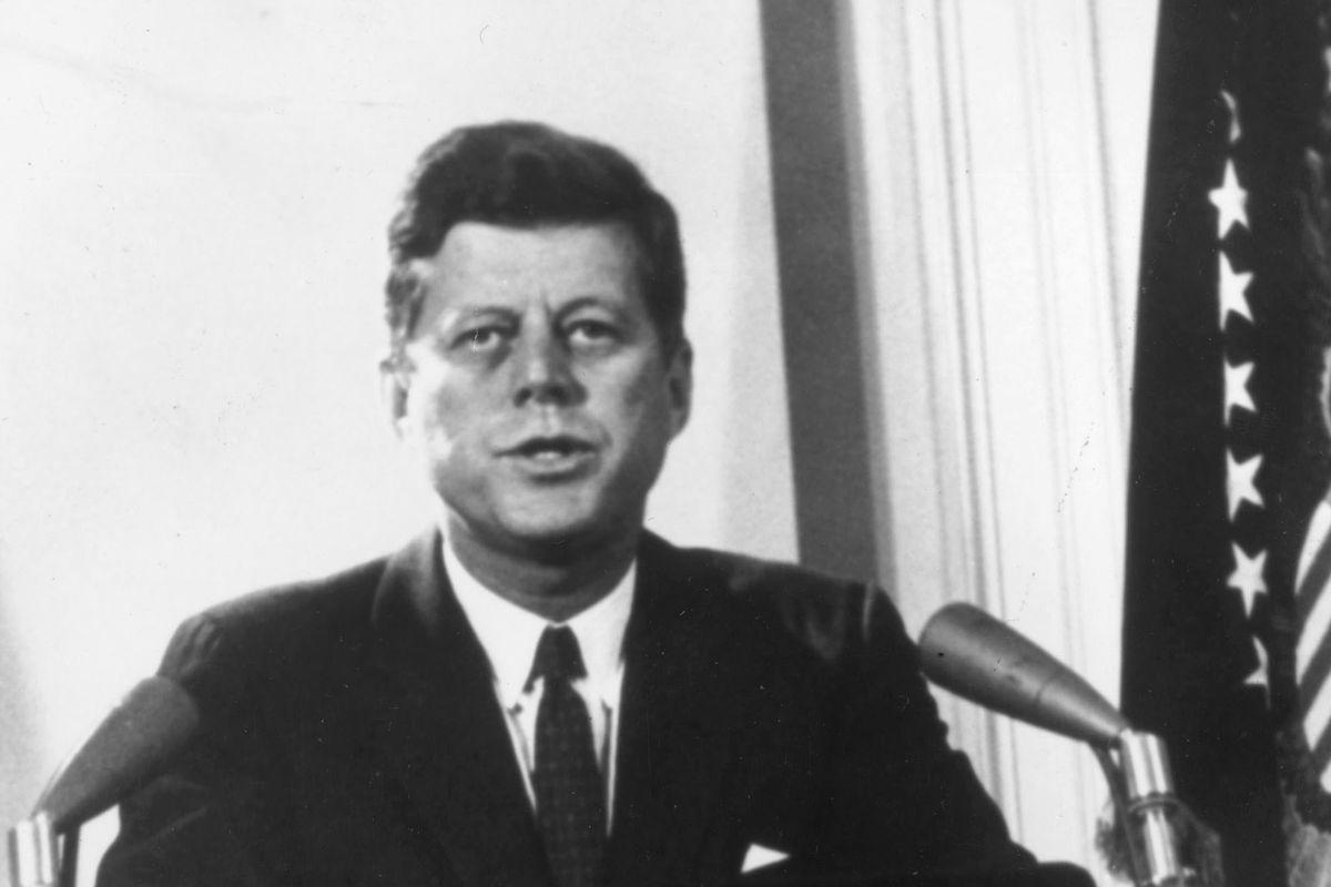 President John F. Kennedy gave a televised speech on Feb. 11, 1962.