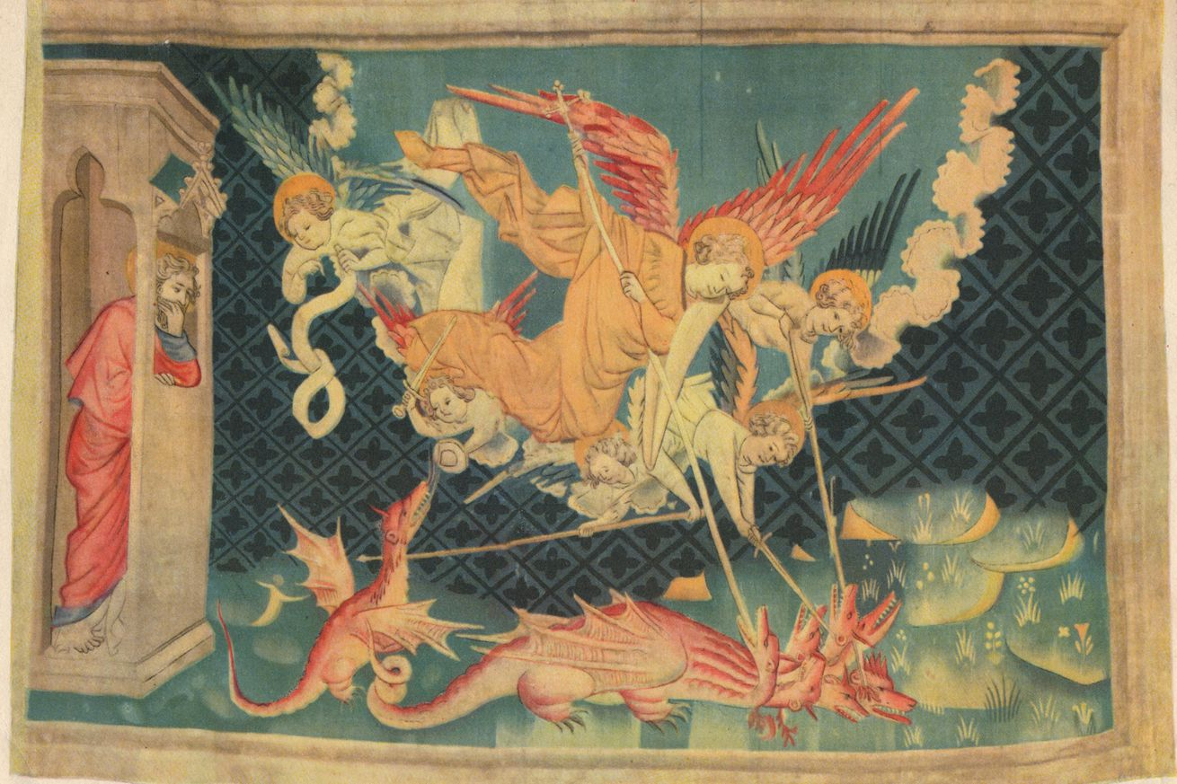 The Apocalypse St Michael And His Agents Overcome The Dragon Creator: Unknown