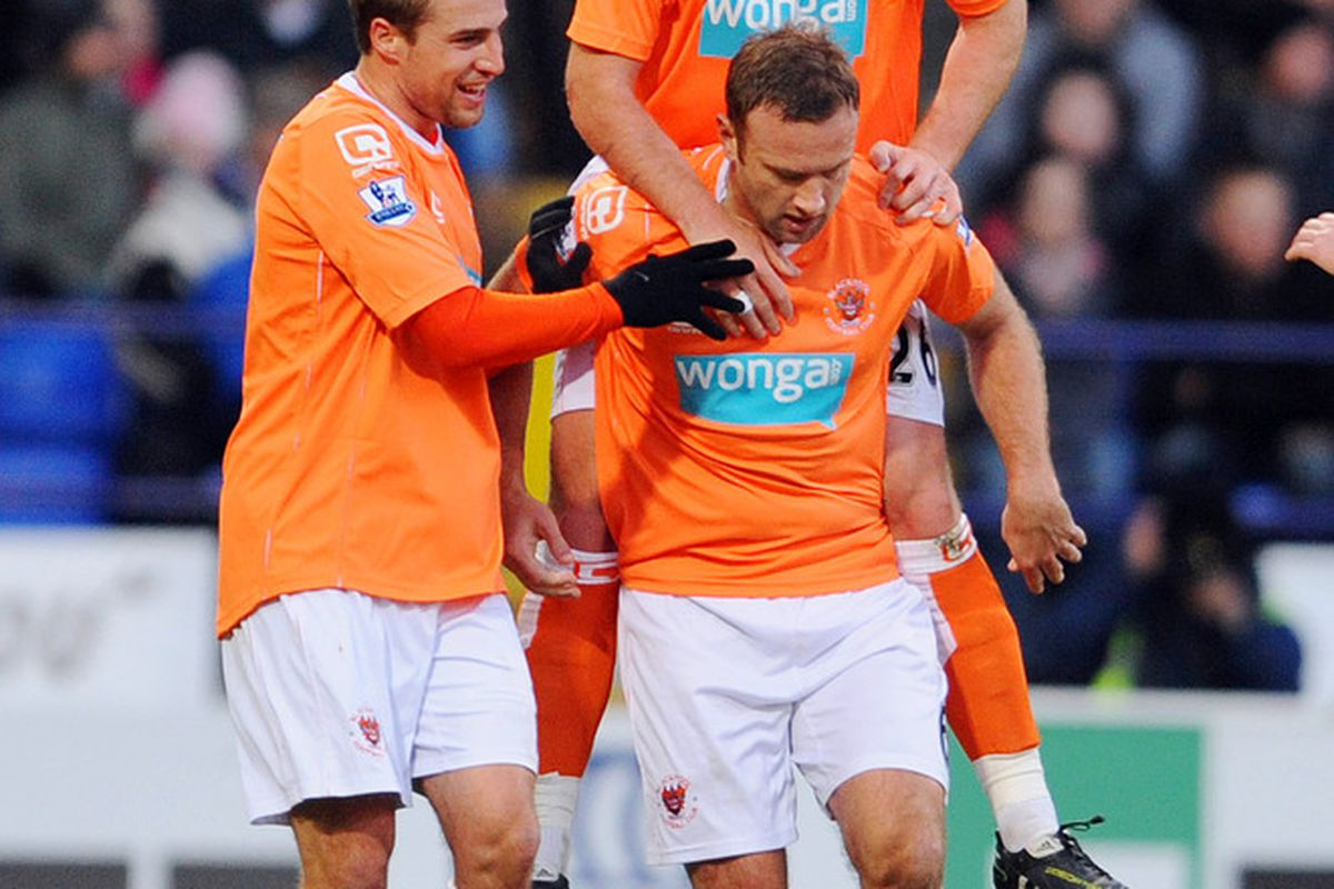 Blackpool apparently want £1M for each tooth that Charlie Adam possesses. (Photo by Clint Hughes/Getty Images)