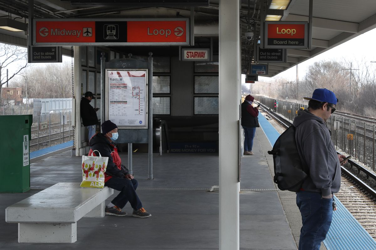 The Chicago Transit Authority's Kedzie station on the Orange Line is in Gage Park, a neighborhood with one of the largest Latino populations in the city.