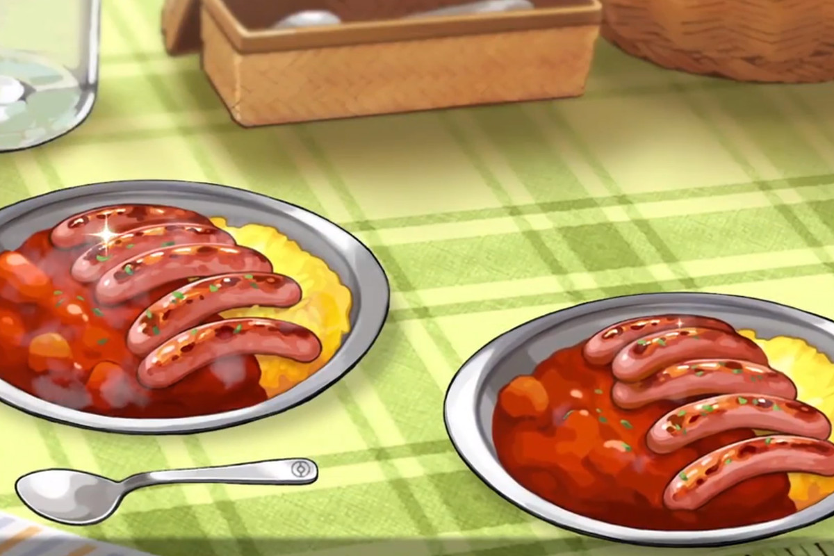 Sausage curry in Pokémon Sworld and Shield