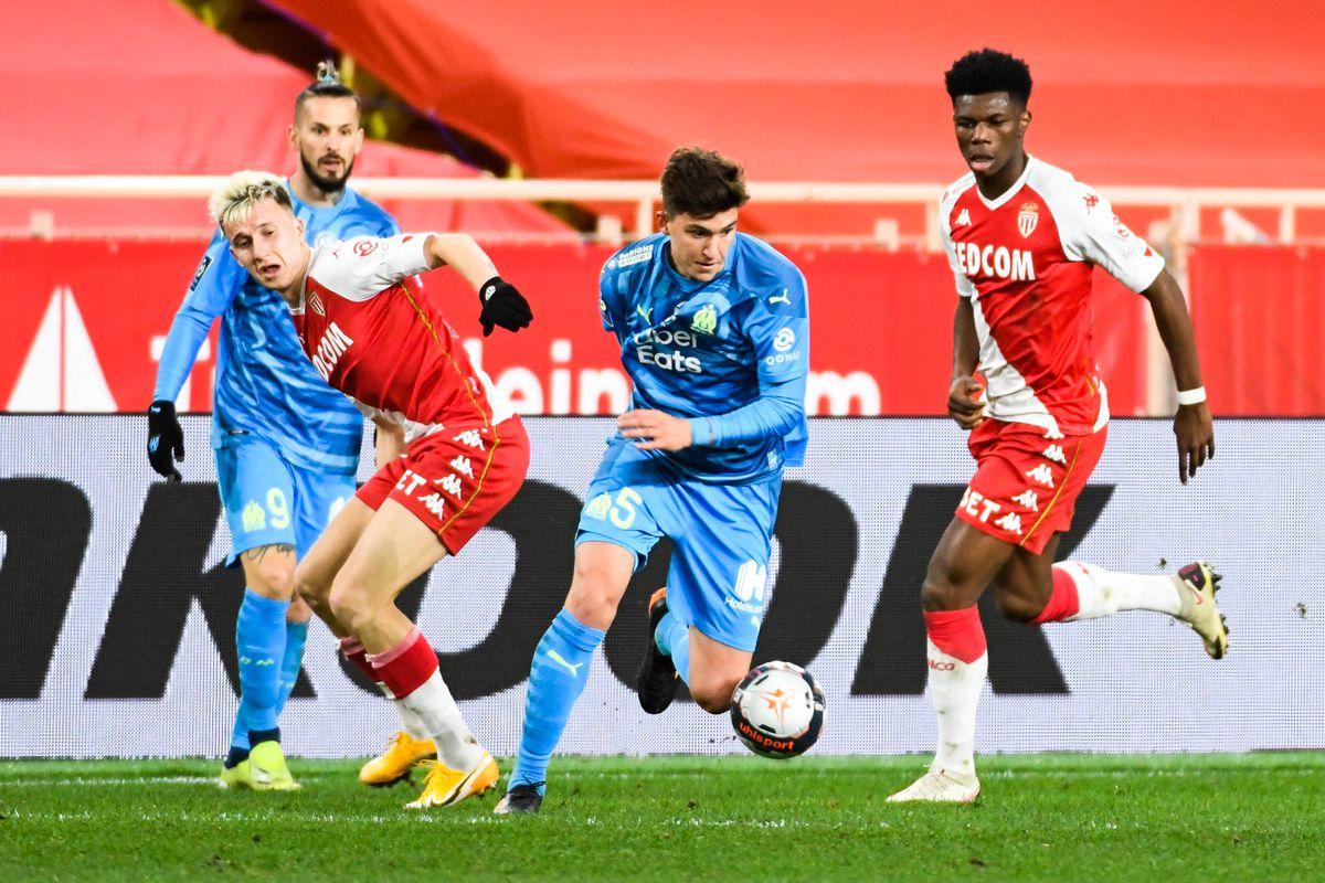 AS Monaco v Olympique de Marseille - Ligue 1 Uber Eats