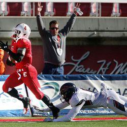 Springville vs. East in 4A semifinal high school football in Salt Lake City, Thursday, Nov. 12, 2015.