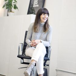 """<b>Summer Wilson</b>, Director of Photography, wearing a top from Le Tote, white Levi's, Aldo shoes, a ring with chain from Fawn Boutique SF, and a Sarah Chloe monogram """"S"""" ring from Mark & Graham.<br><br> <b>What is your worst shopping habit?</b><br>Buy"""