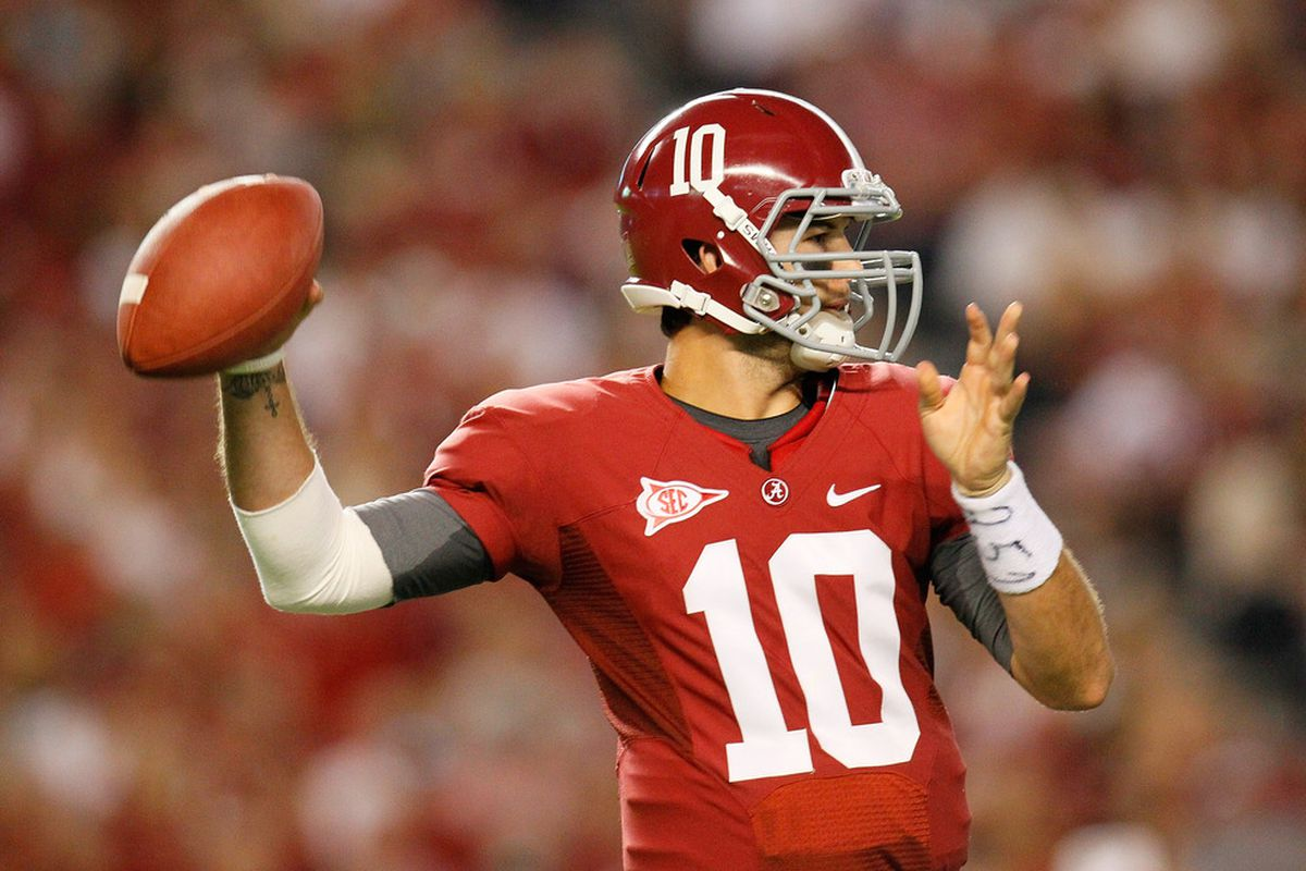 """AJ McCarron is the first player to pick up RBR's """"Player of the Week"""" award twice this season."""