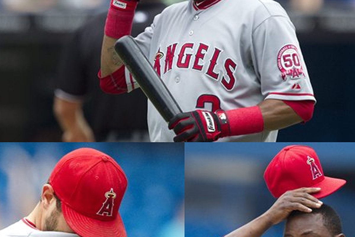 """A compilation of the first three photos that show up when you search """"Los Angeles Angels"""""""