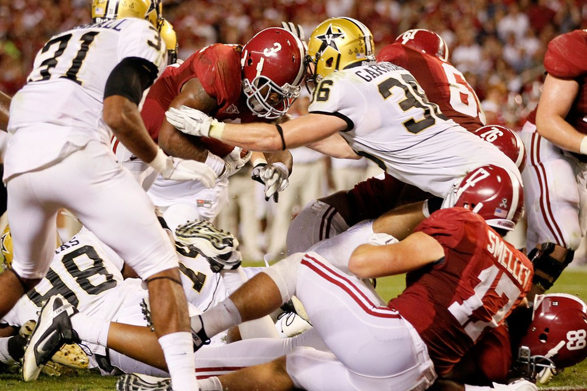 The Commodores will not have the opportunity to upset the Crimson Tide in 2012. Phooey.