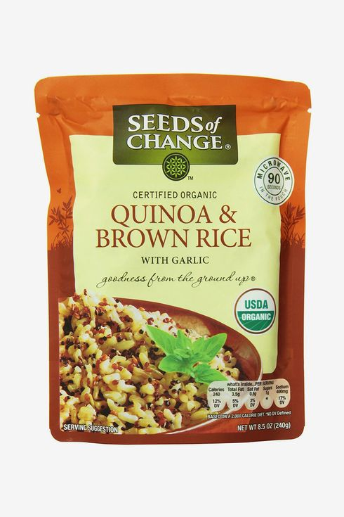 A package of Seeds of Change organic quinoa and brown rice