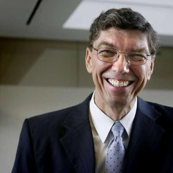 """Clayton Christensen is photographed at the Triad Center in Salt Lake City on October 29, 2010. He is the author of a new book titled """"The Power of Everyday Missionaries."""""""