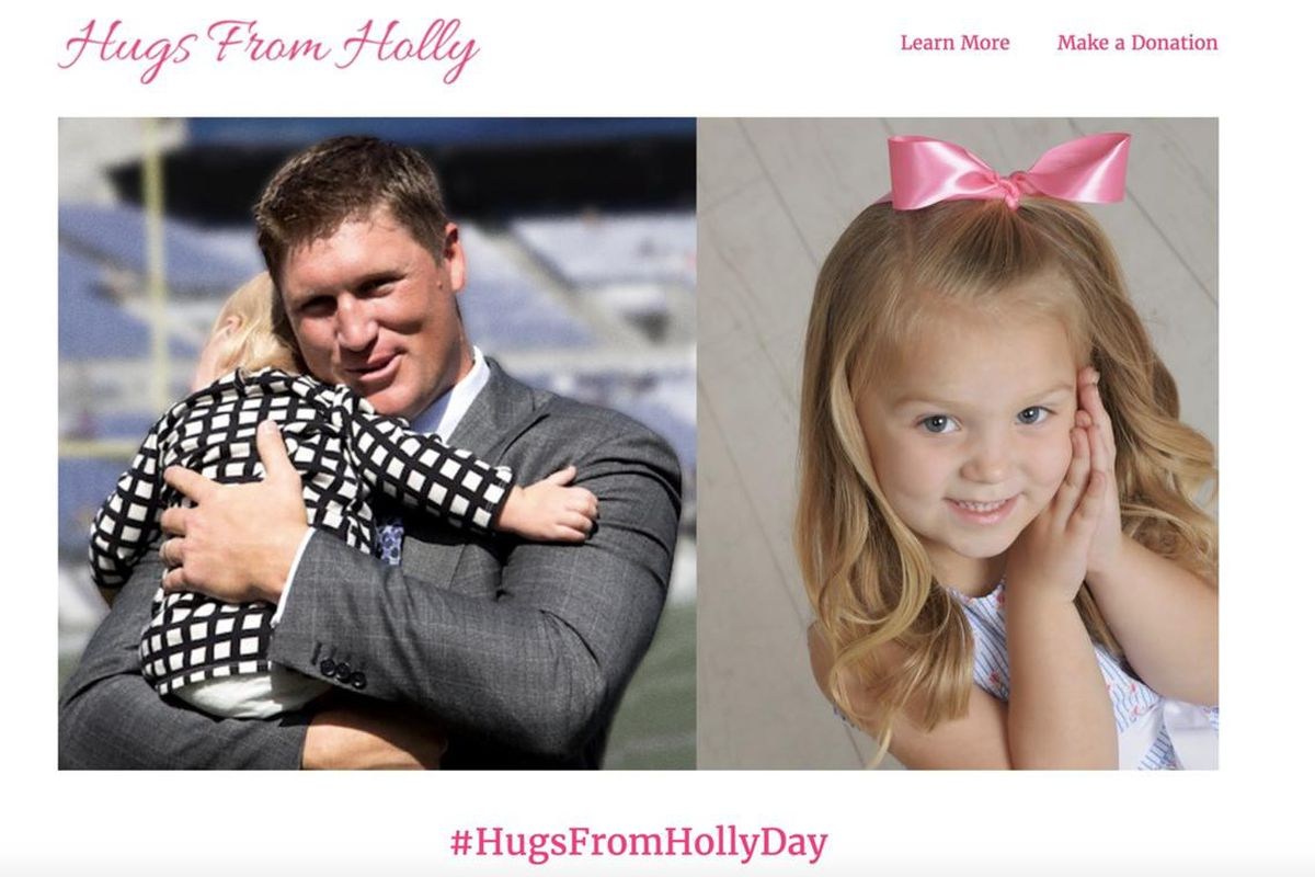Todd Heap and his family launched a website to celebrate what would have been his daughter Holly's 4th birthday.