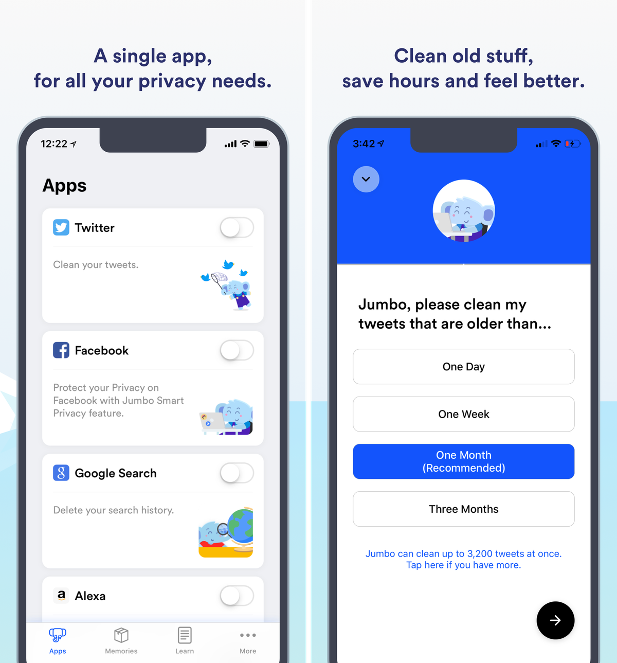 Jumbo is a powerful privacy assistant for iOS that cleans up