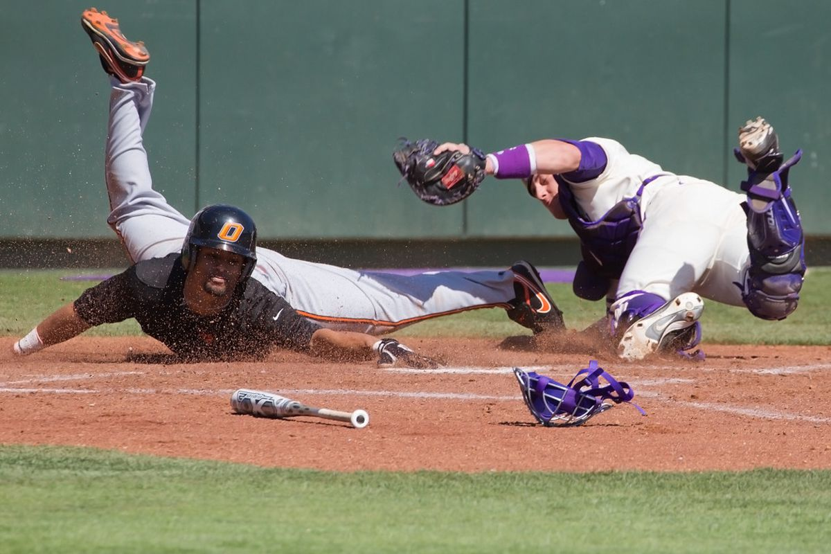 """The Frogs wiffed against the Aggies last night... <a href=""""http://keithr.zenfolio.com/p212635230/h12cf54da#h12cf54da"""" target=""""new"""">(PHOTO BY KEITH ROBINSON)</a>"""
