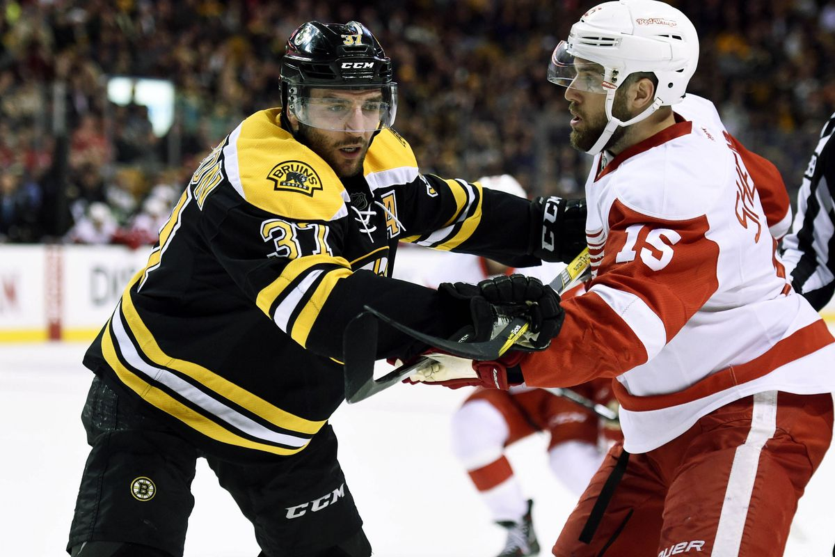 Patrice Bergeron is ready to tussle.