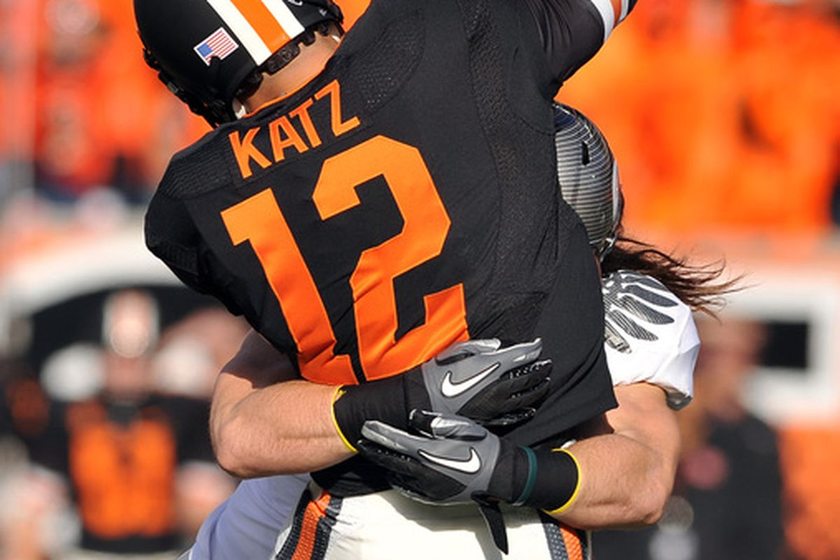 Quarterback Ryan Katz and the rest of the Beavers have their work cut out for them against the Badgers this weekend.