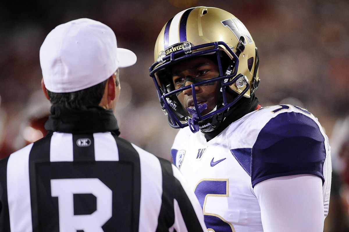 Azeem Victor is an early story line in UW's spring camp.
