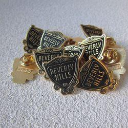 Beverly Hills shield pin, $3.