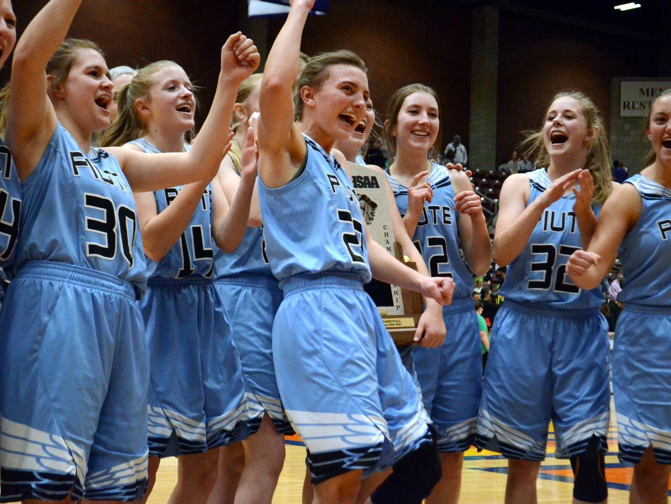 High school girls basketball: Piute nips Valley in girls' 1A championship, 44-40