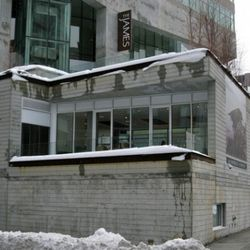 The Treehouse Bar at the corner above Grand and Sixth.