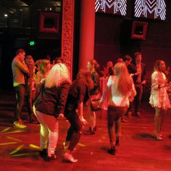 Partygoers kept the dance floor hot after the performances.