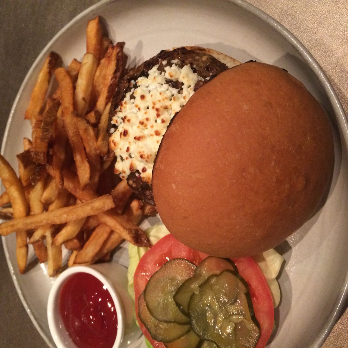 Sepia burger
