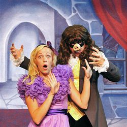 """Dan Larrinaga and Ashley Myers in """"Snooty and the Beast."""""""