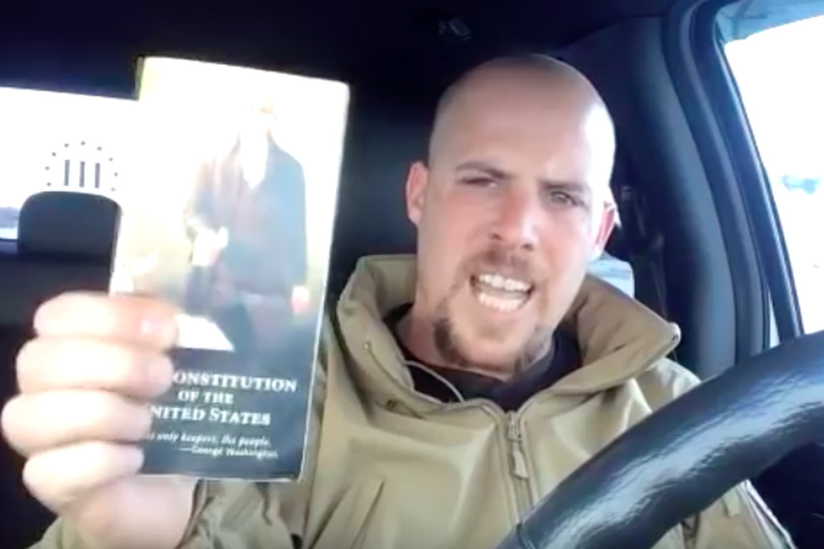 Screenshot from YouTube video of Jon Ritzheimer, posted December 31, 2015.