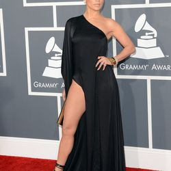 J.Lo and her leg in Anthony Vaccarello.