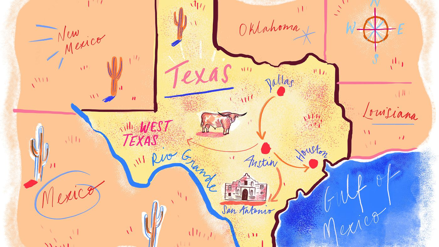 Map Of Texas Meme.A Comprehensive Guide To Road Tripping Through Texas Eater