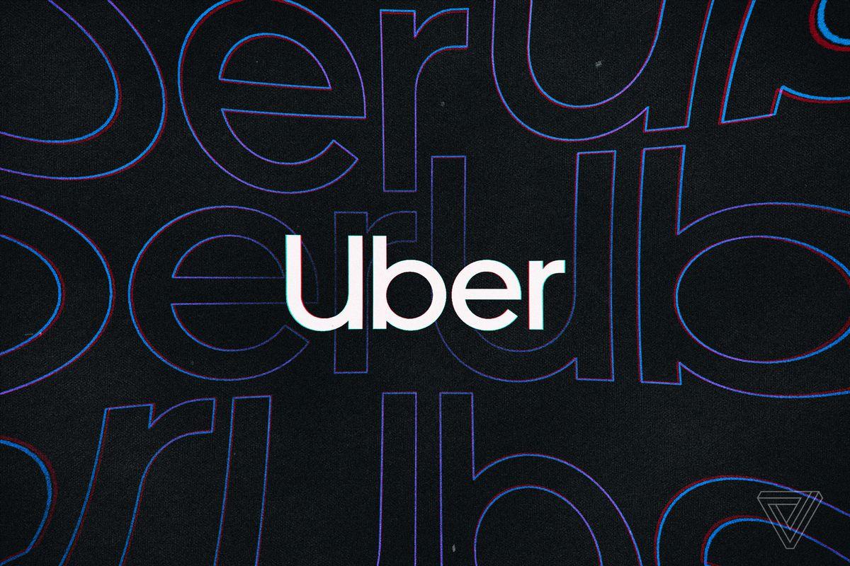 The Uber logo against a dark background.