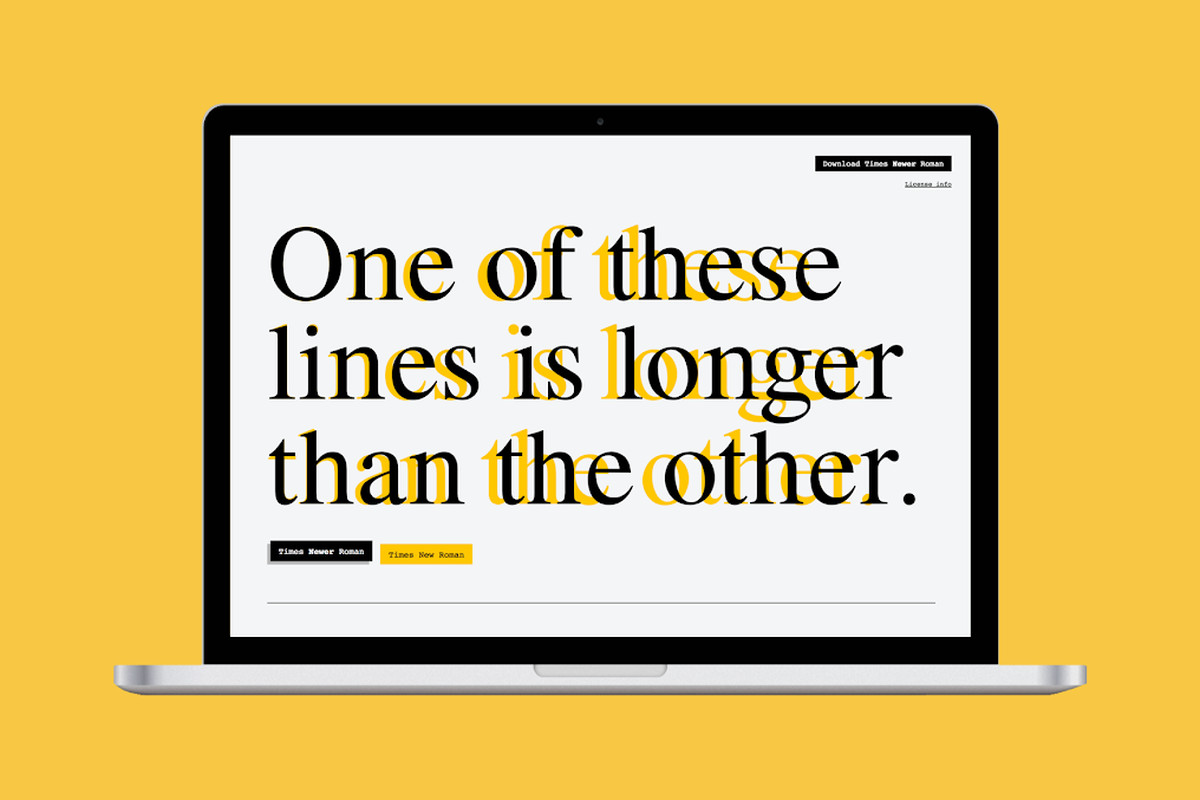 Times Newer Roman is a sneaky font designed to make your