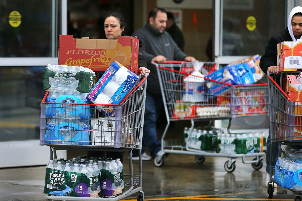 Shoppers Stock Up As Coronavirus Cases Grow
