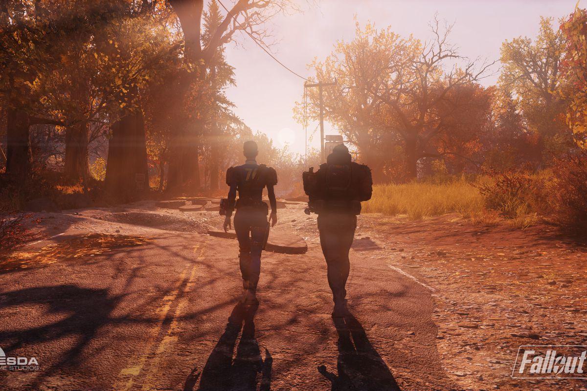 Fallout 76 beta - two wanderers