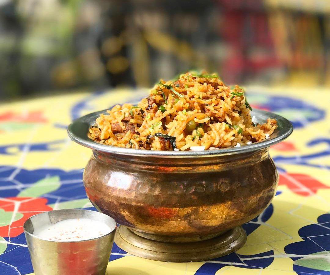 A dish from G'Raj Mahal