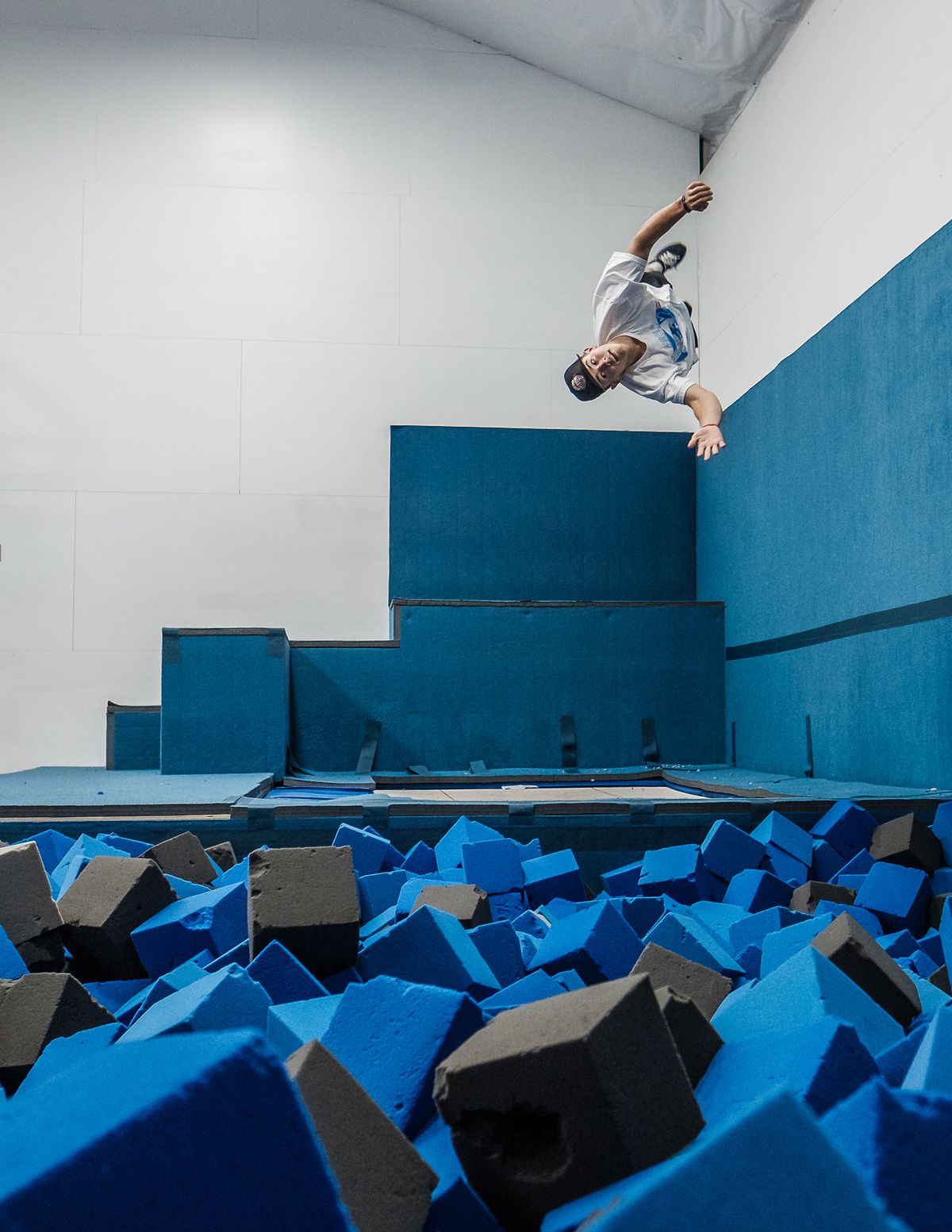 """Kai Beckstrand demonstrates parts of his training regimen at his family's gym in St. George on Saturday, August 28, 2021. Beckstrand's efforts landed the 15-year-old in the finals of the competition television show """"American Ninja Warrior."""""""