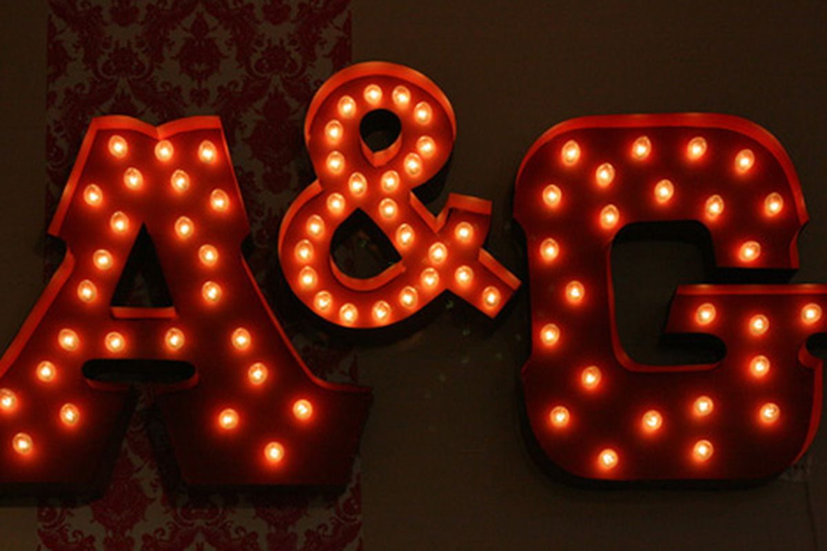 """The A&amp;G Merch sign via <a href=""""http://www.flickr.com/photos/31418704@N02/4032574266/sizes/o/in/pool-312691@N20/"""">Cherrypatter</a>/Racked Flickr Pool"""